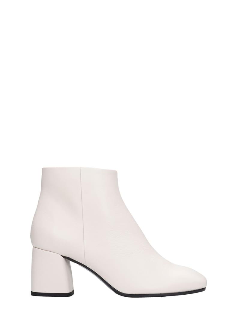 Fabio Rusconi High Heels Ankle Boots In Beige Leather - beige