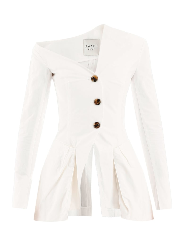 A.W.A.K.E. Mode Asymmetrical Blazer - WHITE (White)