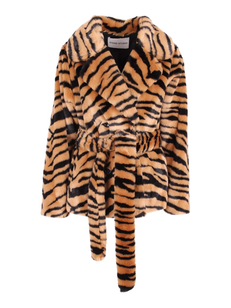 STAND STUDIO 'tiffany' Modacrylic Jacket - Classic Tiger