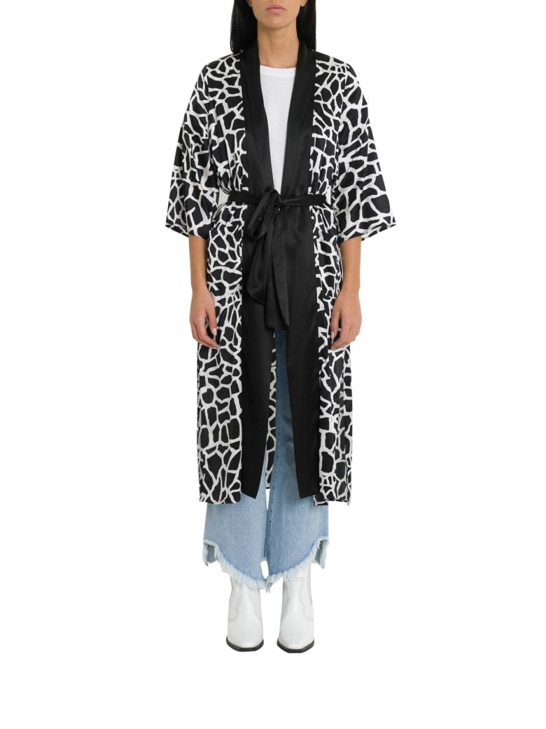 Federica Tosi Animalier Silk Tunic With Belt - Bianco/nero