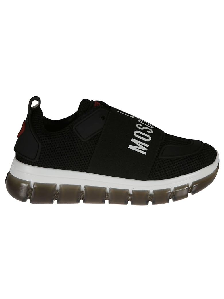 Love Moschino Logo Sock Sneakers - black