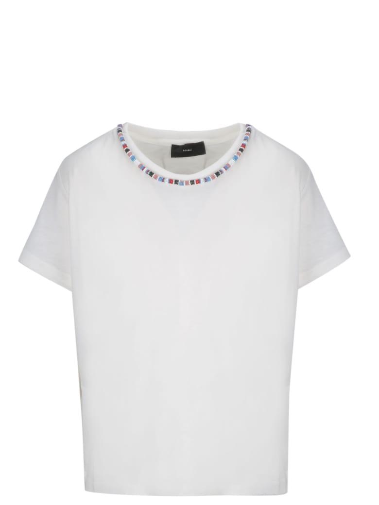 Alanui Bead-embellished T-shirt - White