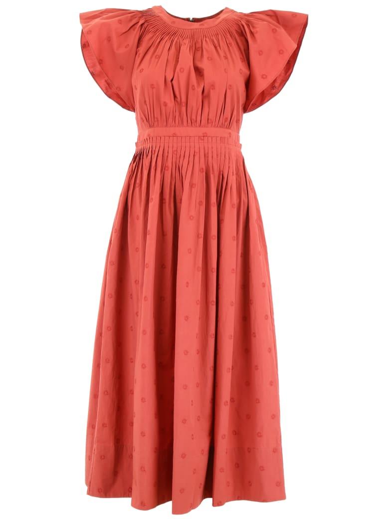 Ulla Johnson Lottie Dress - MARSALA (Red)
