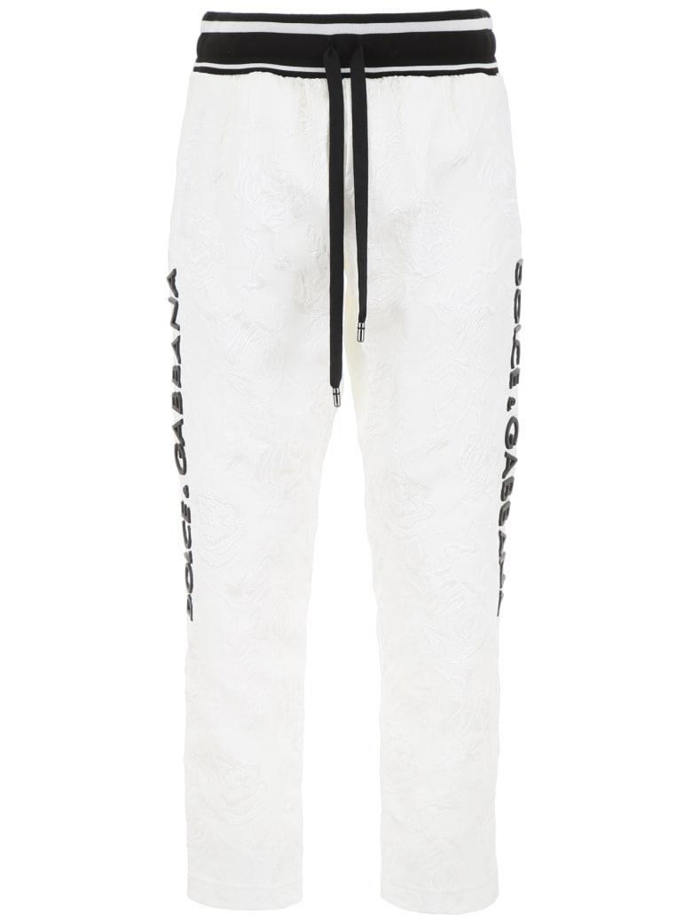 Dolce & Gabbana Jacquard Joggers - BIANCO (White)