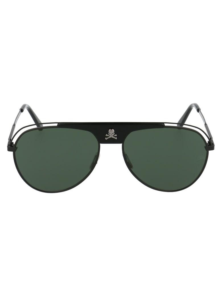 Philipp Plein Charlie Sunglasses - JDZA BLACK NICKEL GREY NORMAL