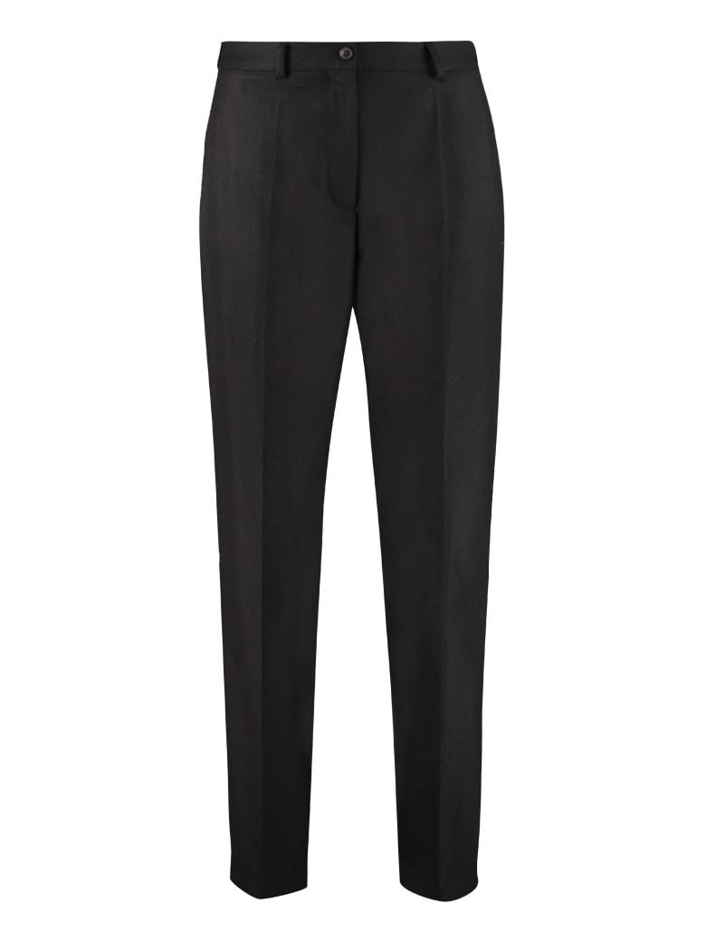 Agnona Wool Tailored Trousers - black