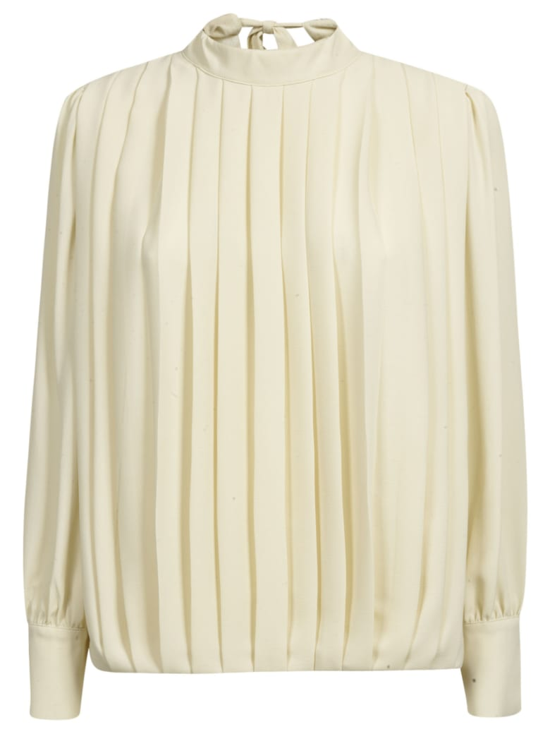 Department 5 Pleated Detail Blouse - Beige
