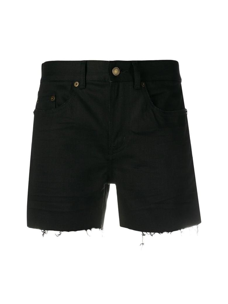 Saint Laurent Low Waist Short Raw - Used Black