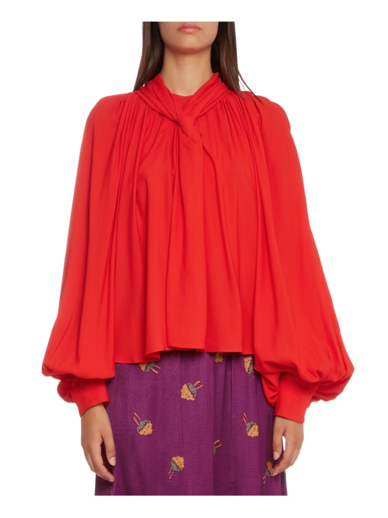 A.W.A.K.E. Mode Red Smock Top - Red