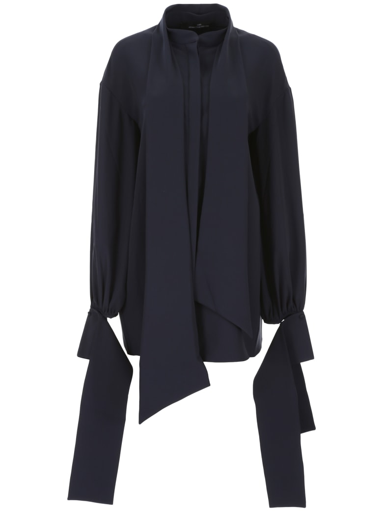 Rokh Blouse With Open Back - NAVY (Blue)