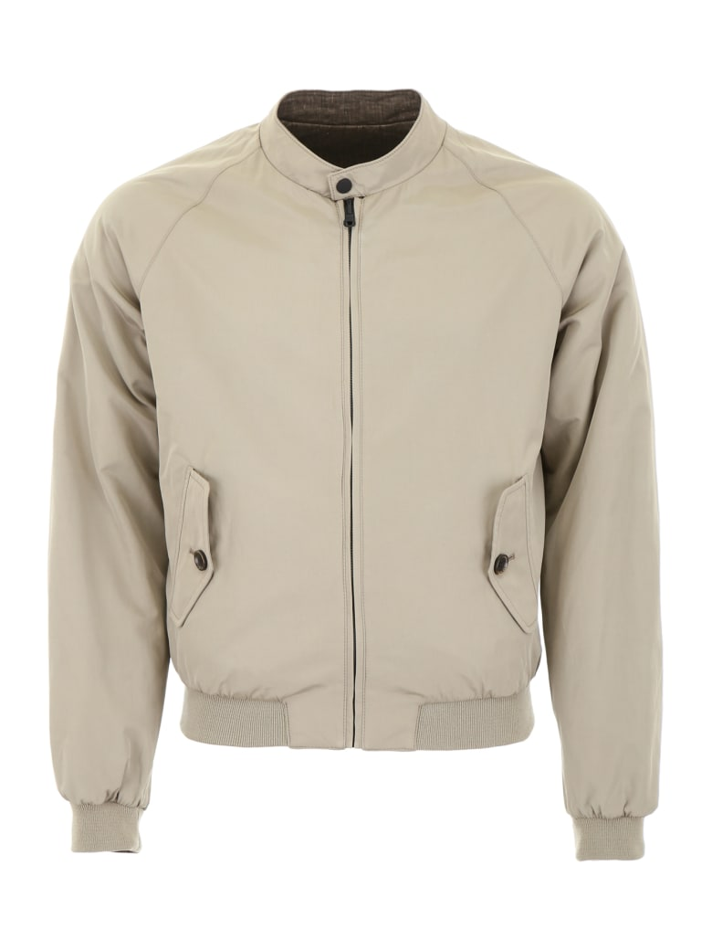CC Collection Corneliani Reversible Bomber Jacket - BEIGE OLIVE (Khaki)