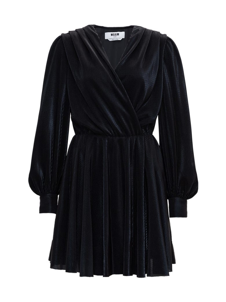 MSGM Draped Dress - Black