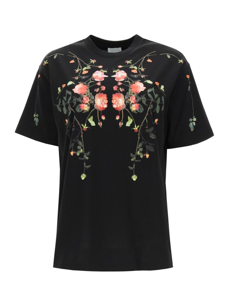 Burberry Carrick Flowers T-shirt - BLACK