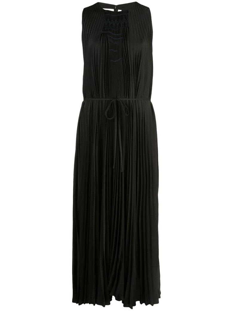 Vince Sleeveless Long Plisse Dress - Blk Black