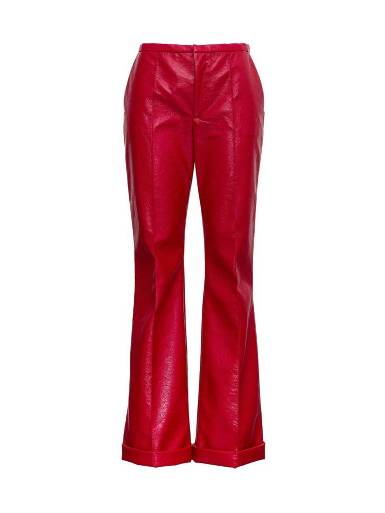Philosophy di Lorenzo Serafini Leatherette Flared Trousers - Red