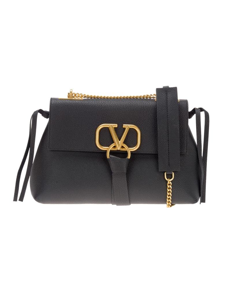 Valentino V-ring Shoulder Bag - BLACK