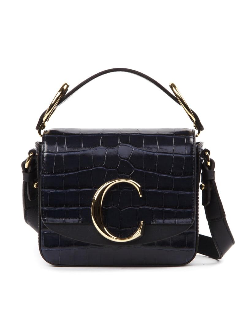 Chloé Blue Leather Mini C Bag - Blue