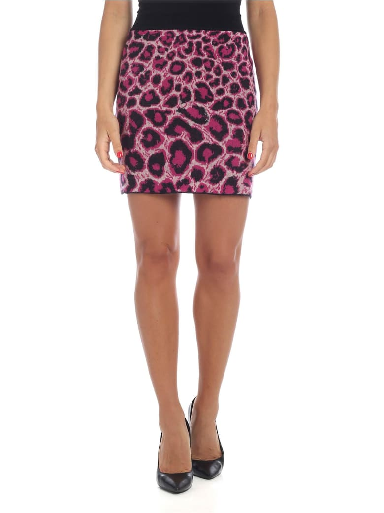 Alberta Ferretti - Animal Printed Miniskirt - Fuchsia