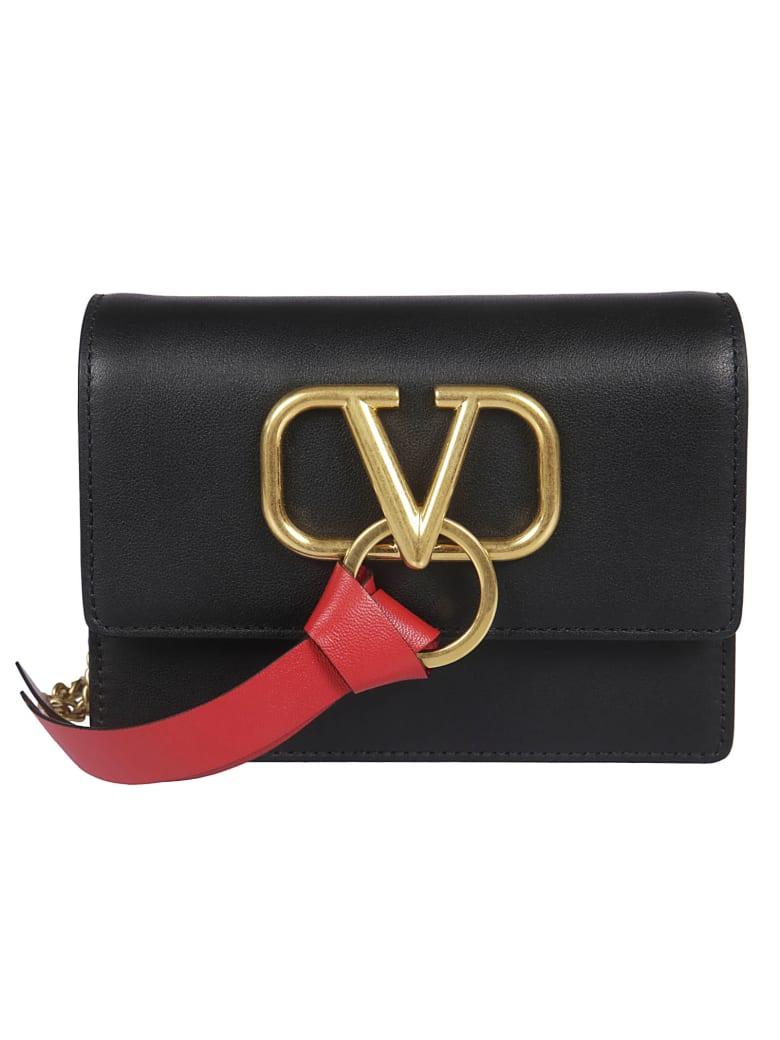 Valentino Logo Shoulder Bag - No Nero