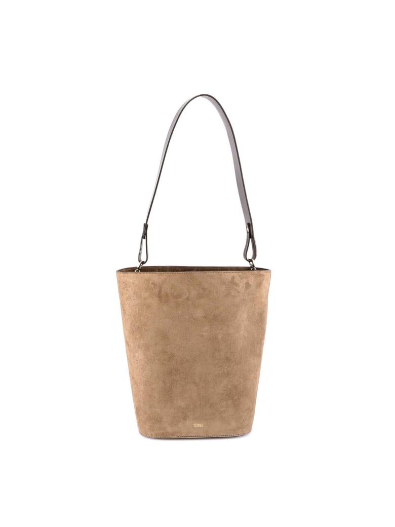 Closed Suede Bag Shoulder Bag - Green