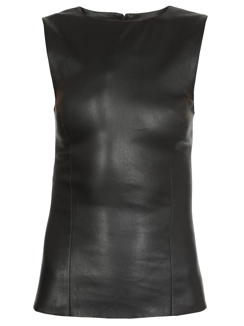 DROMe Leather Top - BLACK