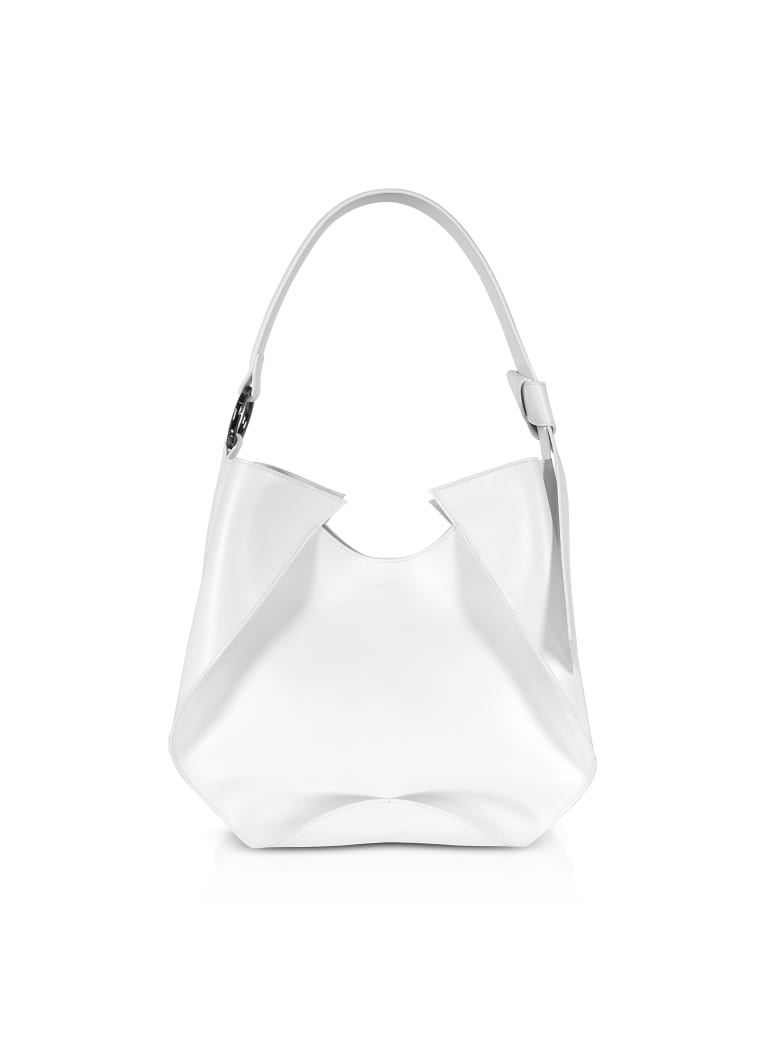 Giaquinto Giselle Leather Shoulder Bag - White