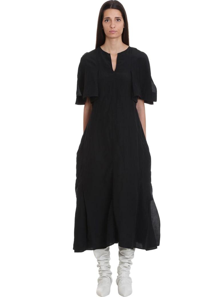 Jil Sander Liza Dress In Black Viscose - black