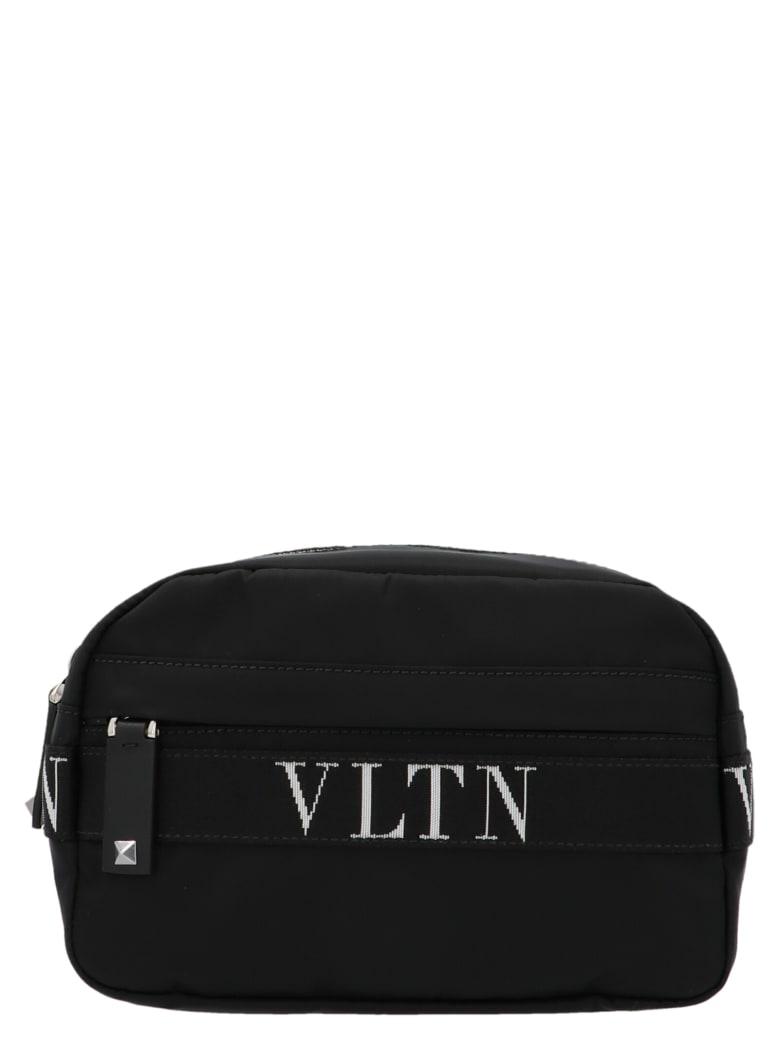 Valentino Garavani Vltn-print Belt Bag - Nero