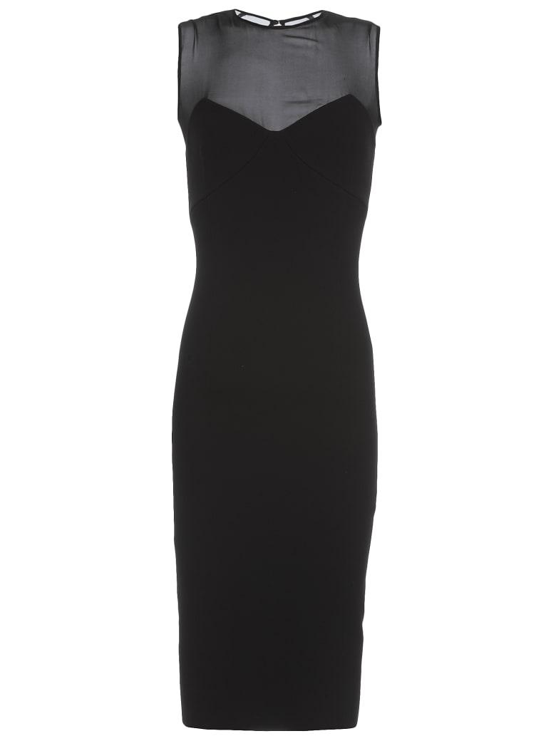 Victoria Beckham Plain Color Pencil Dress - BLACK