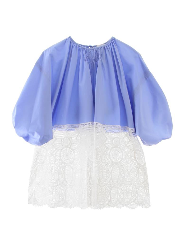 Patou Comunion Blouse With Lace - BLUE (Light blue)