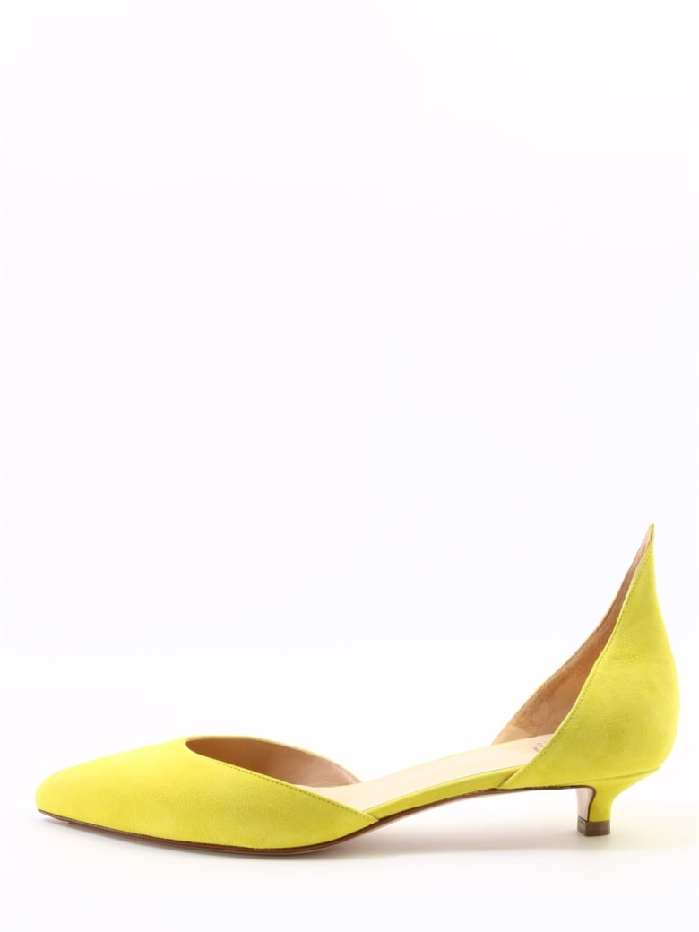 Francesco Russo Dècolleté Suede Lime - Yellow