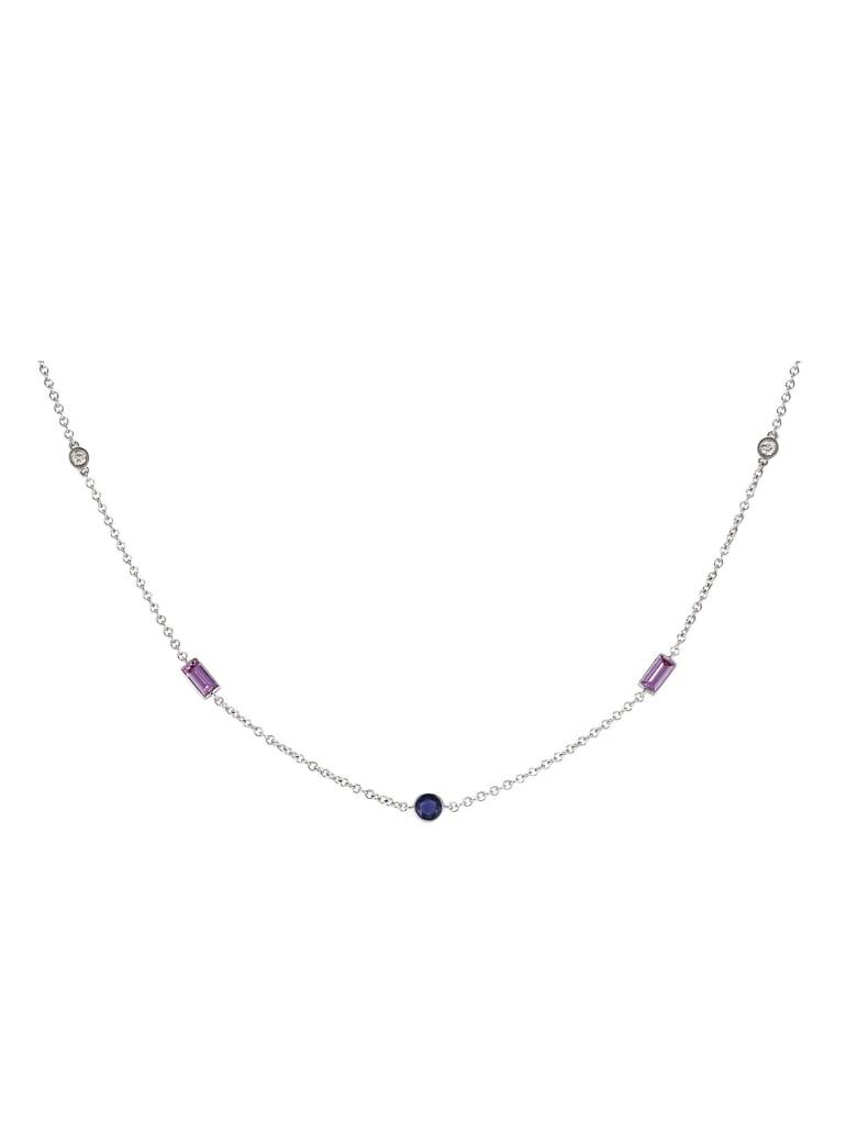 Lo Spazio Jewelry Lo Spazio Blue , Pink Sapphire and Diamond Necklace - Blue_Pink