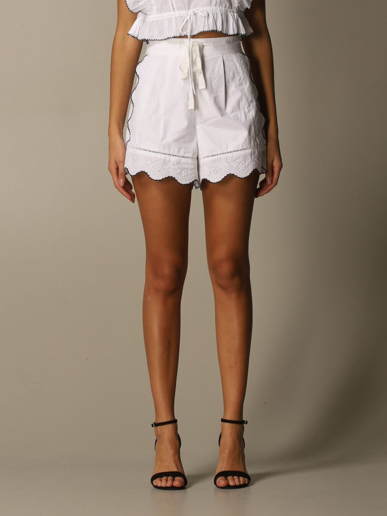 Hilfiger Denim Hilfiger Collection Short Hcw Cutwork & Embroidery Short - White