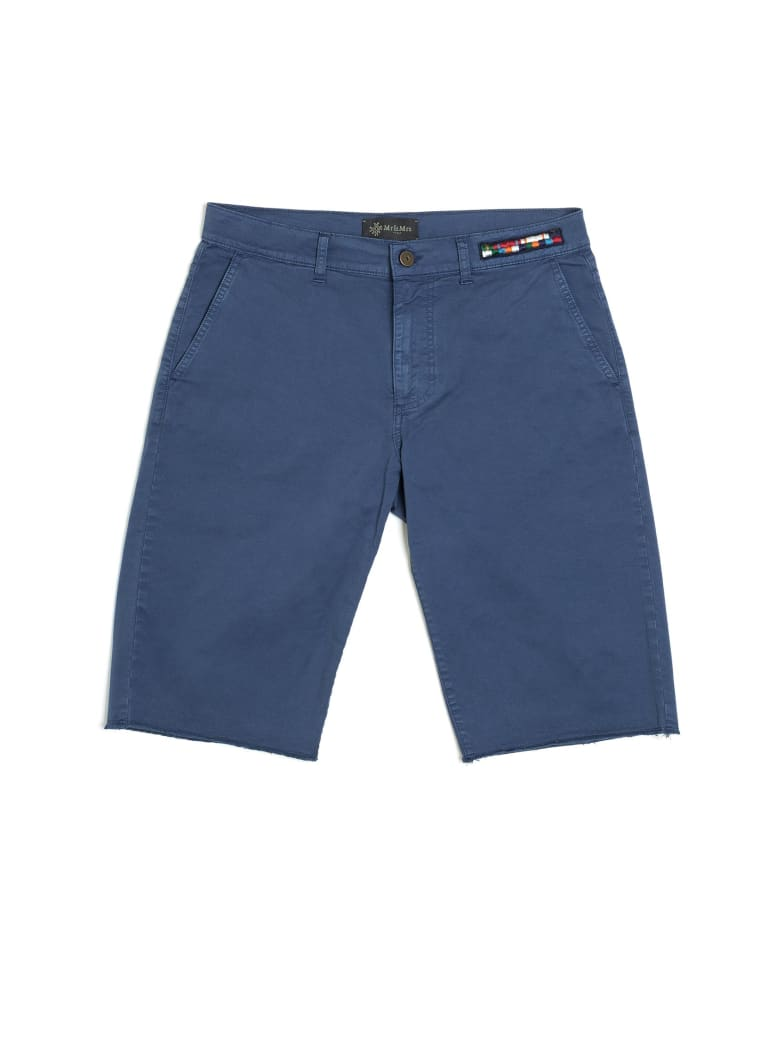 Mr & Mrs Italy Cotton Twill Bermuda For Man - BLUE