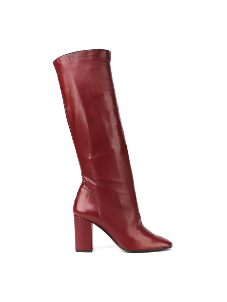 Aldo Castagna Carolina Smooth Leather Boots - Red