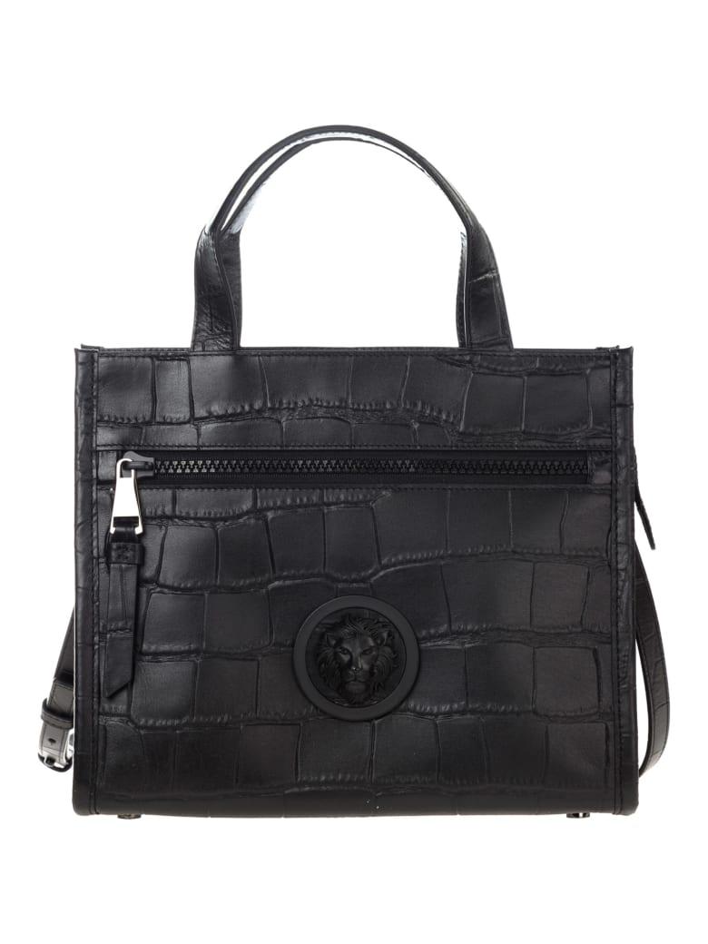Versus Versace  Handbag Cross-body Messenger Bag Purse Lion Head - Black