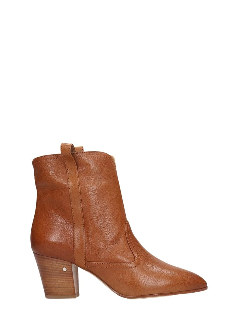 Laurence Dacade Sheryll Texan Ankle Boots In Leather Color Leather - leather color