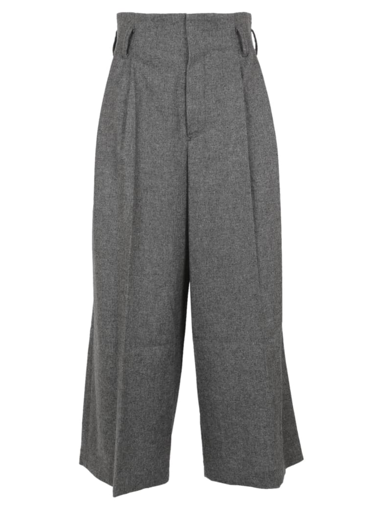 Y's Cut-out Detail Trousers - Gray