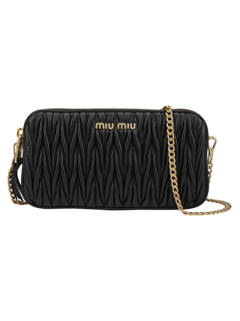 Miu Miu Chain Wallet - Nero
