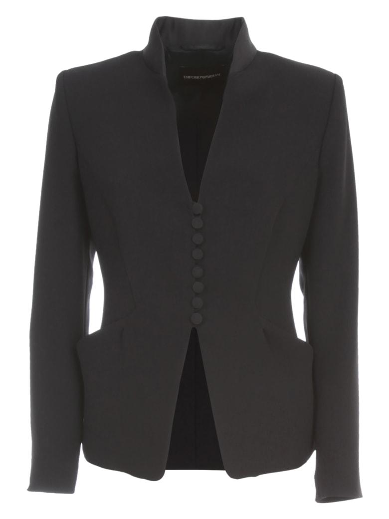 Emporio Armani Flared Jacket W/buttons - Blu Navy