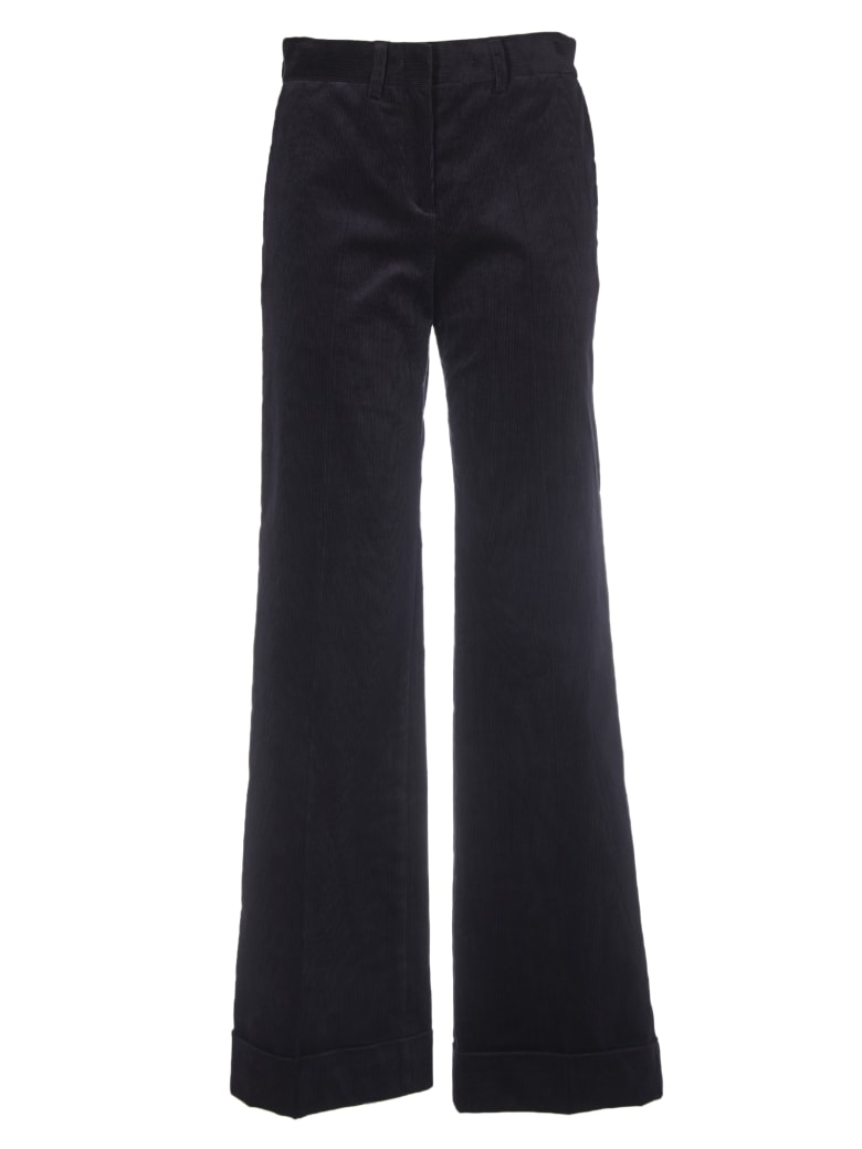 Paul Smith Black Coudruroy Trousers - Blue