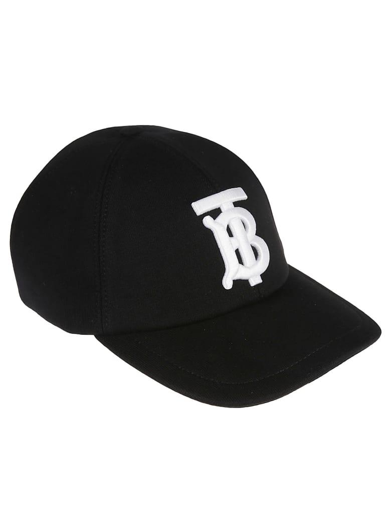 Burberry Logo Embroidered Baseball Cap - Nero