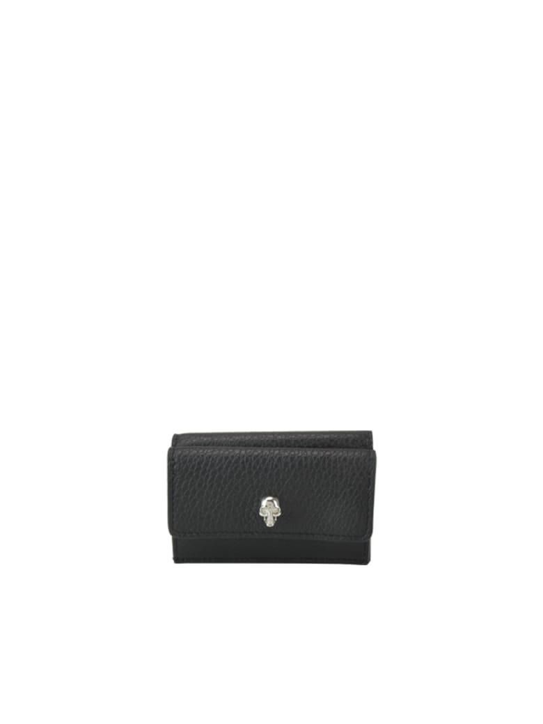Alexander McQueen New Mini Skull Wallet - Black