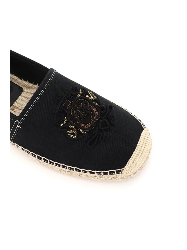 Dolce & Gabbana Boccaccio Espadrilles Dg Coat Of Arms - Nero