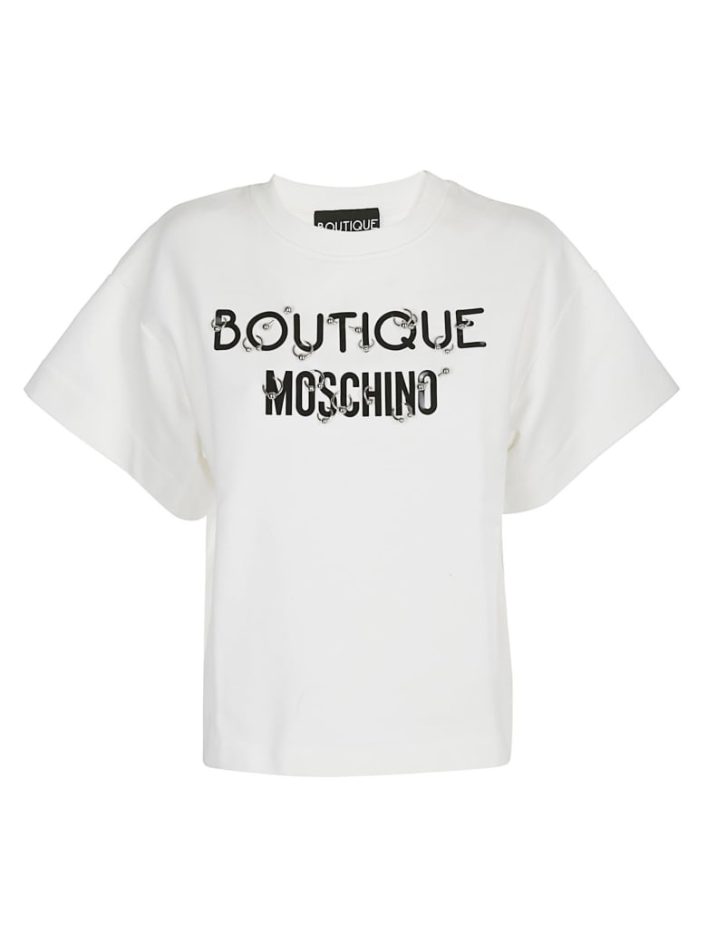 Boutique Moschino Logo T-shirt - White
