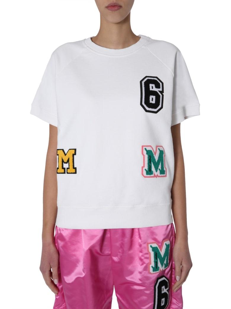 MM6 Maison Margiela Round Neck Sweatshirt - BIANCO