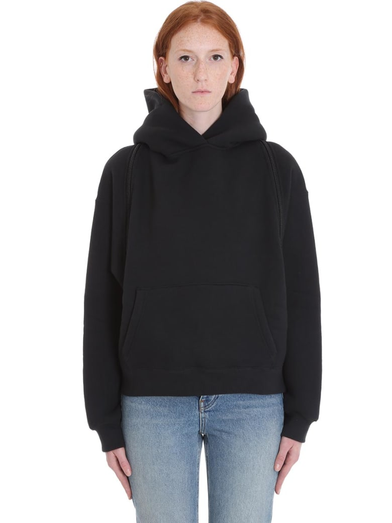 T by Alexander Wang Sweatshirt In Black Wool - black