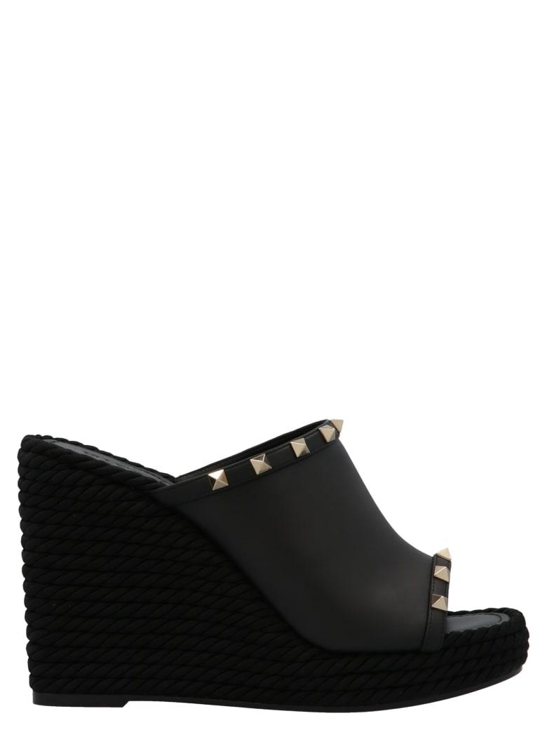 Valentino Garavani 'rockstud Torchon' Shoes - Black