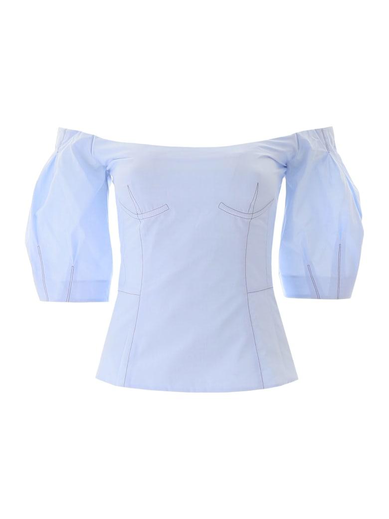 Gabriela Hearst Melanie Off-shoulder Top - LIGHT BLUE (Light blue)