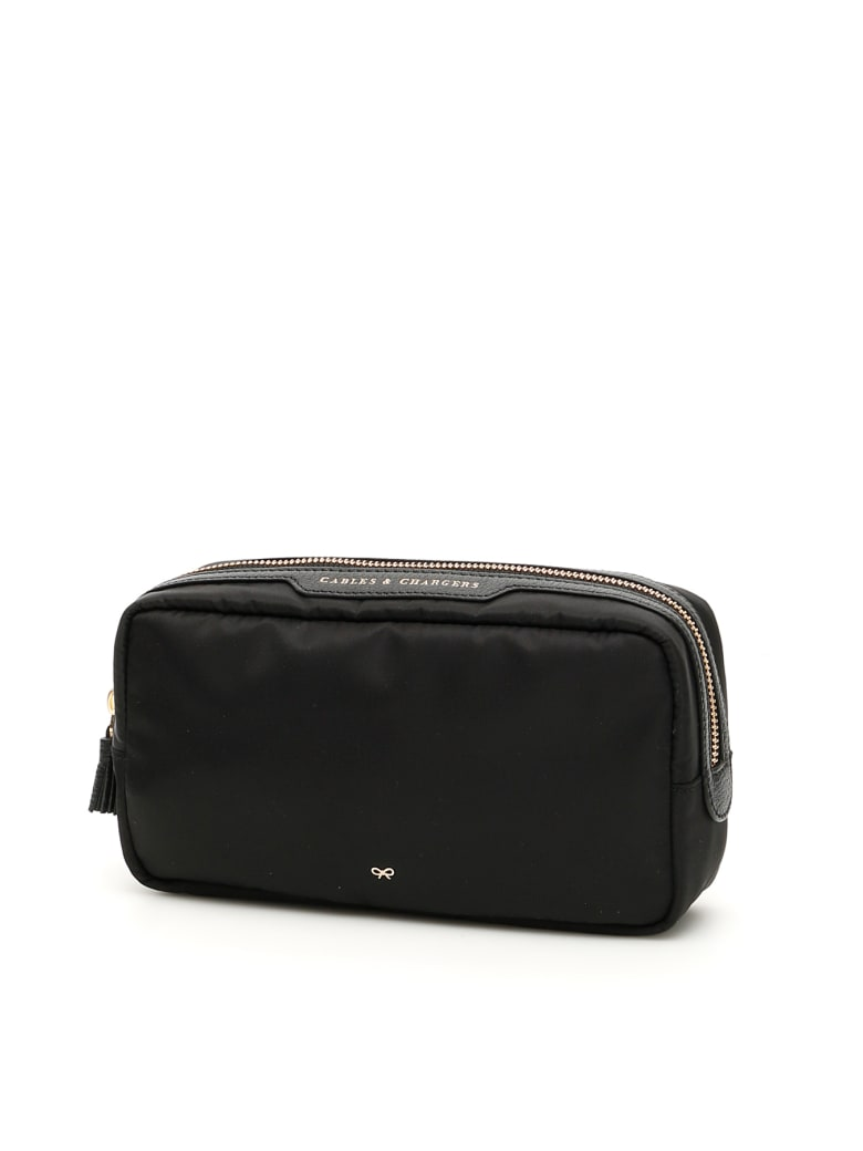 Anya Hindmarch Cables & Chargers Pouch - BLACK (Black)